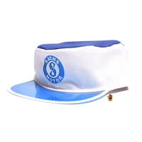 SACHS white and blue poker hat