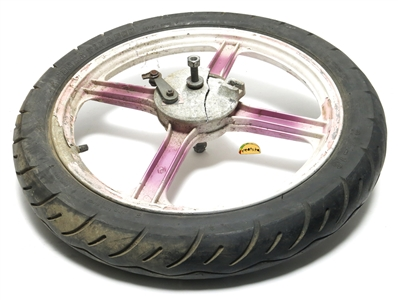 "USED 16"" vespa 4 star hint of magenta mag wheel"