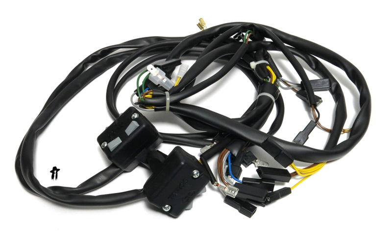 tomos OEM wiring harness with tons of useful things all over on wire holder, wire ball, wire lamp, wire connector, wire antenna, wire nut, wire sleeve, wire cap, wire leads, wire clothing,