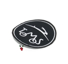 MOPED THREADS tomos logo patch - black n white