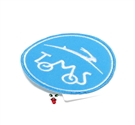 MOPED THREADS tomos logo patch - blue n white
