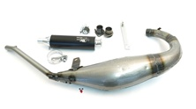 turbo kit 80cc giant race pipe for derbi SENDA - clear coat version