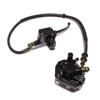 ultra black front disc brake master cylinder and caliper assembly - 760mm