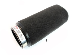UNI air filter LONG black foam - 44mm ID