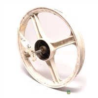 NOS vespa 4 star mag wheel - FRONT - white