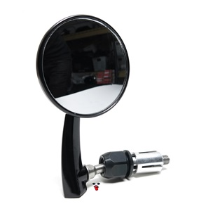 black whisker bar end mirror