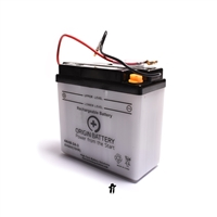 yamaha DT50lc 6v battery with electrolyte pack