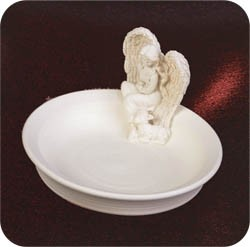 Decorative Trinket Dish-Courage Angel