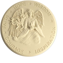 Hope Wisdom Courage Stepping Stone Wall Plaque Small