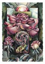 Another Bloomin Frog mystical visionary  Art Print