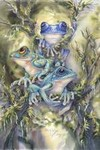 Frog Wild mystical visionary  Art Print