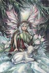 Winter Magic mystical visionary  Art Print
