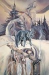 Ceremony For Black Wolf mystical visionary  Art Print