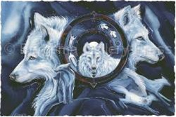 Wolf Gate mystical visionary  Art Print