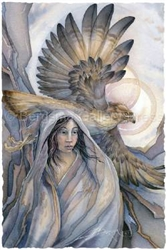 Lady Hawk mystical visionary  Art Print