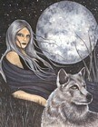 Mistress Of Wolves home accent Wall Art Print