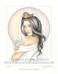 Kwan Yin Goddess home accent Wall Art Print