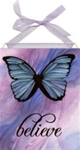 Butterfly Believe home accent Wall Art Tile
