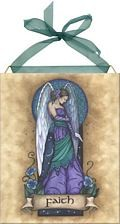 Faith Angel home accent Wall Art Tile