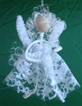 White Lace Faery Ornament