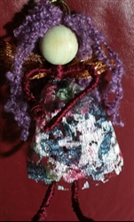 Red Lace Faery Ornament