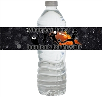 Football Bar Mitzvah Waterproof Water Bottle Labels