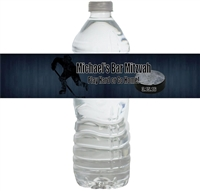 Hockey Bar Mitzvah Waterproof Water Bottle Labels