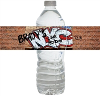 Graffiti New York City Waterproof Water Bottle Labels