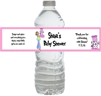 Mod Mom Baby Shower Waterproof Water Bottle Labels