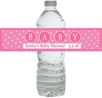 Pink, Blue or Green! Big Baby Waterproof Water Bottle Labels