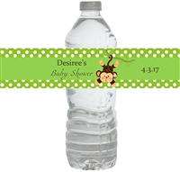 Green Monkey Waterproof Water Bottle Labels