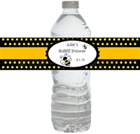 Bumble Bee BaBee Baby Shower Waterproof Water Bottle Labels