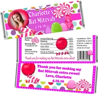 Candy Land Bat Mitzvah Candy Wrappers