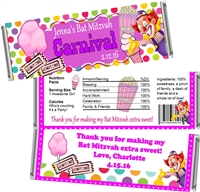 Carnival Bat Mitzvah Candy Wrappers