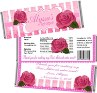 Roses Bat Mitzvah Candy Wrappers