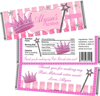 Princess Bat Mitzvah Candy Wrappers