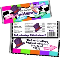 Mad Hatter Bat Mitzvah Candy Wrappers