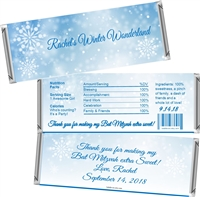 Winter Wonderland Party Bat Mitzvah Candy Wrappers