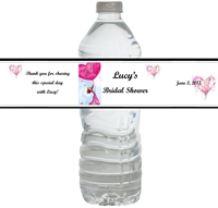Bridal Shower Waterproof Water Bottle Labels