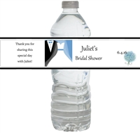 Tuxedo & Gown Waterproof Water Bottle Labels