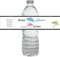 Showers of Happiness Waterproof Water Bottle Labels