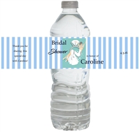 Bling Bridal Shower Waterproof Water Bottle Labels