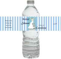 Bride on Cake Waterproof Water Bottle Labels