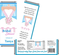 Bridal Gown Bridal Shower Candy Wrappers