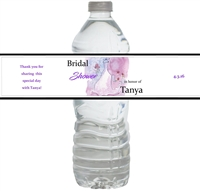 Bridal Gown Waterproof Water Bottle Labels