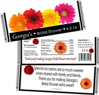 Gerber Daisy Bridal Shower Candy Wrappers
