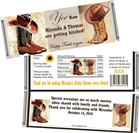 Western Boots Bridal Shower Candy Wrappers