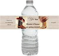 Western Bridal Shower Waterproof Water Bottle Labels