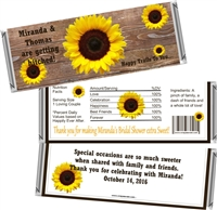 Sunflower Western Bridal Shower Candy Wrappers