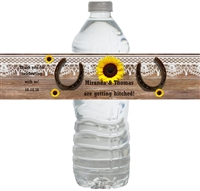 Western Sunflower Waterproof Water Bottle Labels